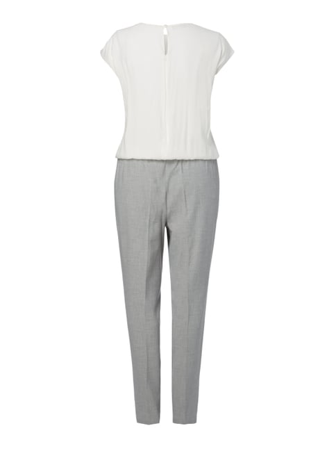 Samoon PLUS SIZE - Jumpsuit im Two-Tone-Design Mittelgrau - 1