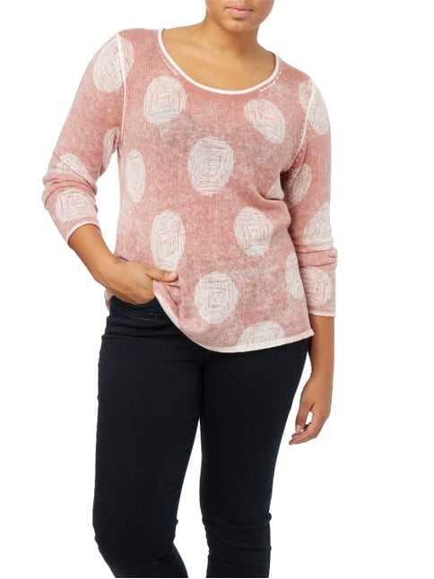 Samoon PLUS SIZE - Pullover im Inside-Out-Look Altrosa - 1