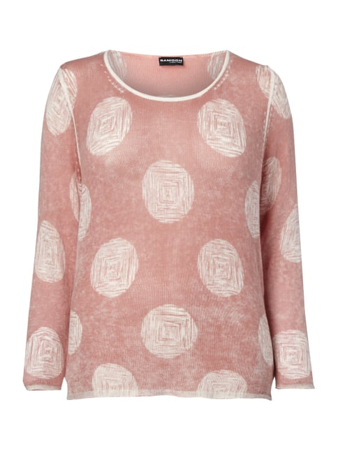 PLUS SIZE - Pullover im Inside-Out-Look Rosé - 1