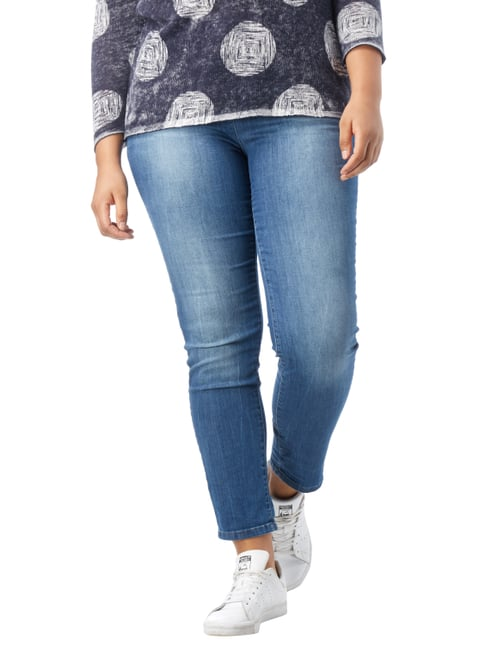 Samoon PLUS SIZE - Stone Washed Modern Fit Jeans Jeans - 1