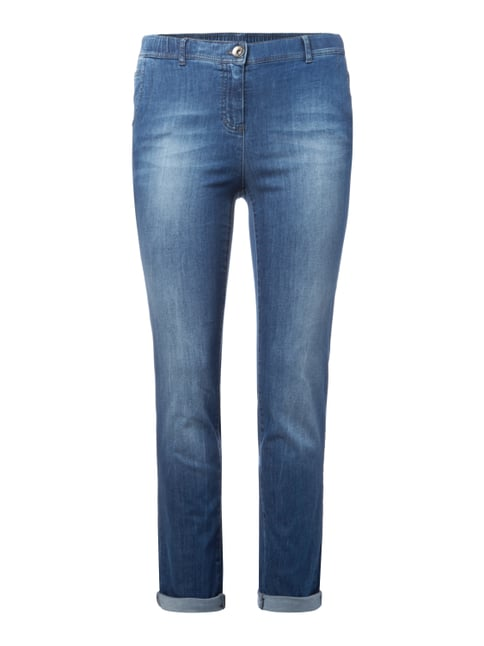 PLUS SIZE - Stone Washed Modern Fit Jeans Blau / Türkis - 1
