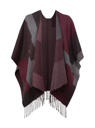 Poncho mit Allover-Muster Rosé - 1