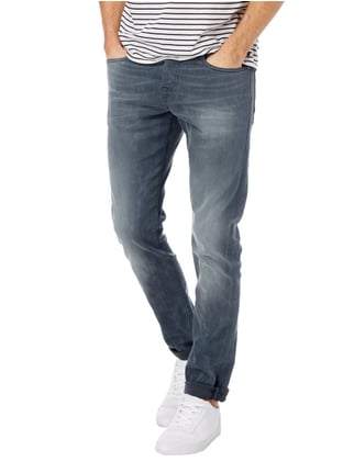 SCOTCH & SODA BLAUW Stone Washed Slim Fit 5-Pocket-Jeans Mittelgrau - 1