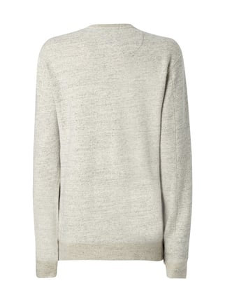 Scotch & Soda Blauw Sweatshirt in Melangeoptik Hellgrau meliert - 1