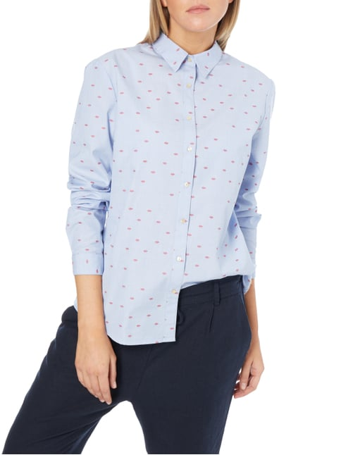 Maison Scotch Bluse mit Allover-Muster Bleu - 1