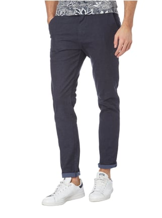 Scotch & Soda Chino mit feinem Allover-Muster Marineblau - 1
