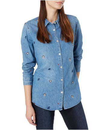 Maison Scotch Jeansbluse mit Stickereien Jeans - 1