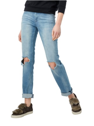 Maison Scotch Regular Fit Jeans im Destroyed Look Hellblau - 1