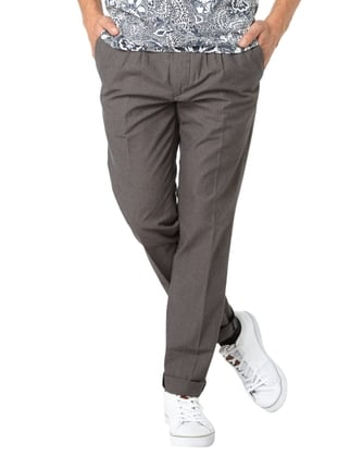 Scotch & Soda Regular Slim Fit Chino mit Webmuster Beige - 1