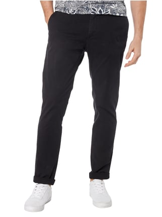 Scotch & Soda Slim Fit Chino mit Gürtel Dunkelblau - 1