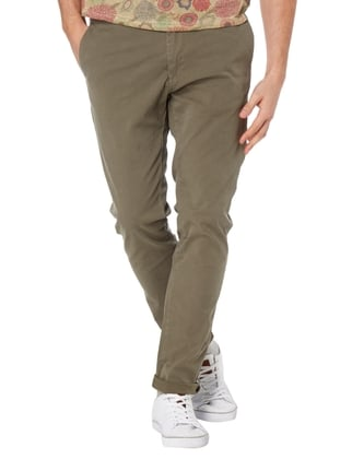Scotch & Soda Slim Fit Chino mit Gürtel Hellgrau - 1