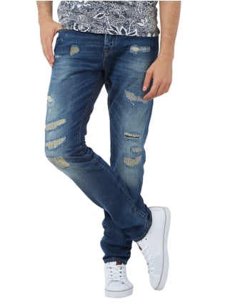 Scotch & Soda Slim Fit Destroyed and Repaired 5-Pocket-Jeans Jeans - 1
