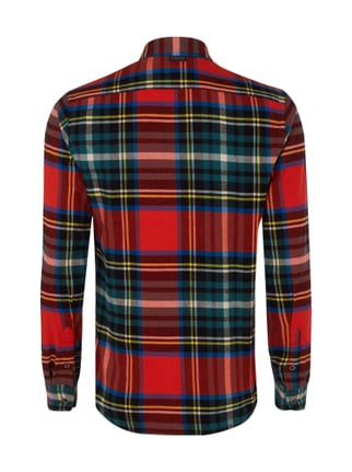 Scotch & Soda Slim Fit Flanellhemd mit Tartankaro Hellrot - 1