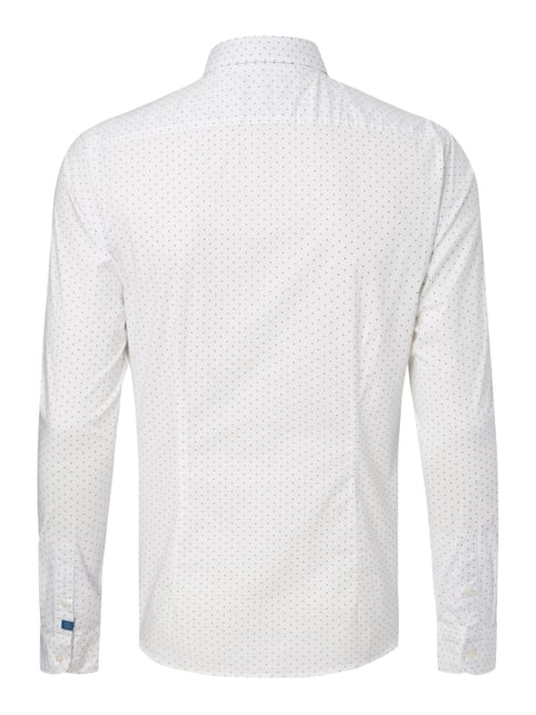 Scotch & Soda Slim Fit Freizeithemd mit Allover-Muster Offwhite - 1