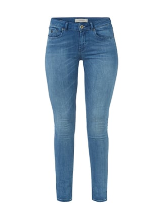 Stone Washed Skinny Fit Jeans Blau / Türkis - 1