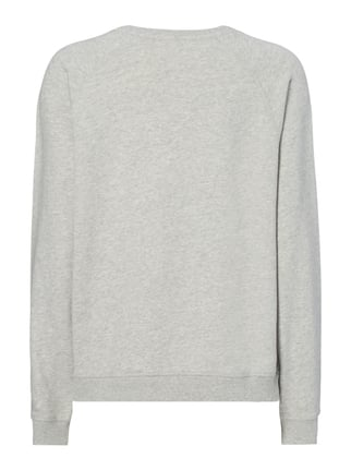 Maison Scotch Sweatshirt mit Message-Flockprint Silber meliert - 1