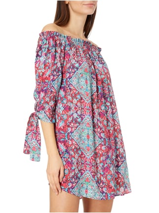 Seafolly Casablanca Overs Off Shoulder Kleid aus Viskose-Seide-Mix Pflaume - 1