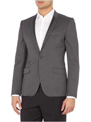 Selected Homme 1-Knopf-Sakko mit steigendem Revers in Slim Fit Anthrazit - 1