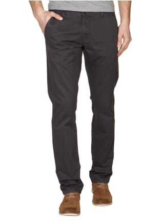 Selected Homme Chino mit geradem Bein in Grau / Schwarz - 1