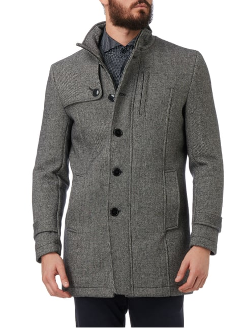 Selected Homme Kurzmantel mit Schulterkoller Flanell - 1