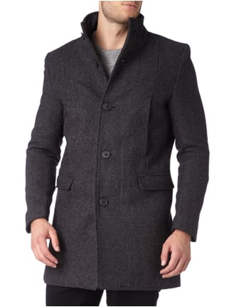 Selected Homme Kurzmantel mit Stehkragen Anthrazit - 1