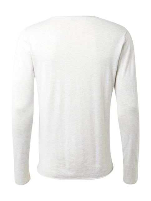 Selected Homme Pullover aus Baumwoll-Seide-Mix Stein - 1