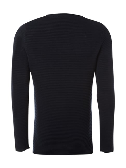 Selected Homme Pullover mit Rippenstruktur Marineblau - 1