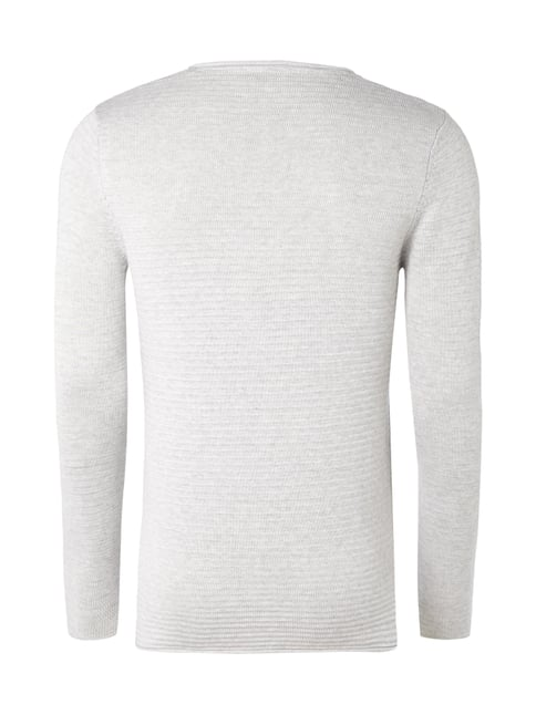 Selected Homme Pullover mit Rippenstruktur Silber - 1