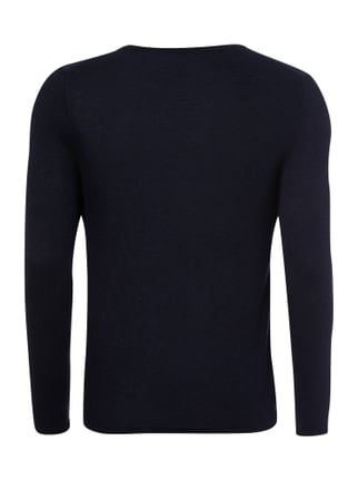Selected Homme Pullover mit Woll-Anteil Marineblau - 1