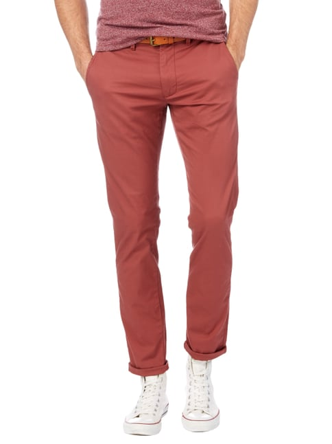 Selected Homme Slim Fit Chino mit Gürtel Rot - 1