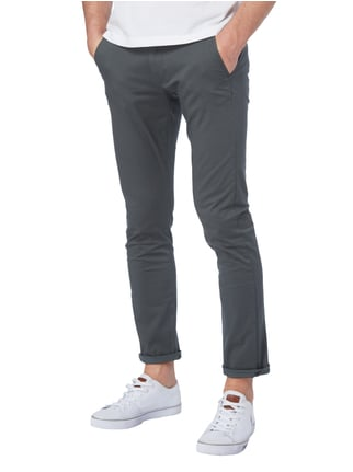 Selected Homme Slim Fit Chino mit Ledergürtel Dunkelgrün - 1