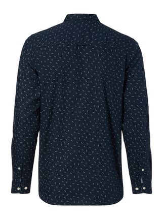 Selected Homme Slim Fit Freizeithemd mit Allover-Muster Blau - 1