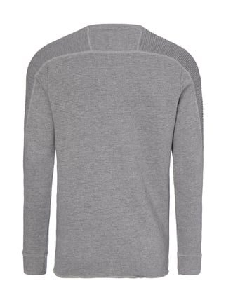 Selected Homme Sweatshirt mit Rippenstruktur Anthrazit - 1