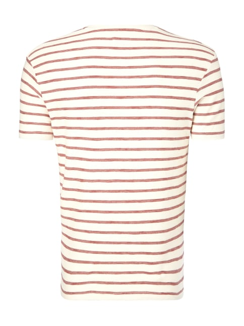 Selected Homme T-Shirt mit Streifenmuster Rot - 1