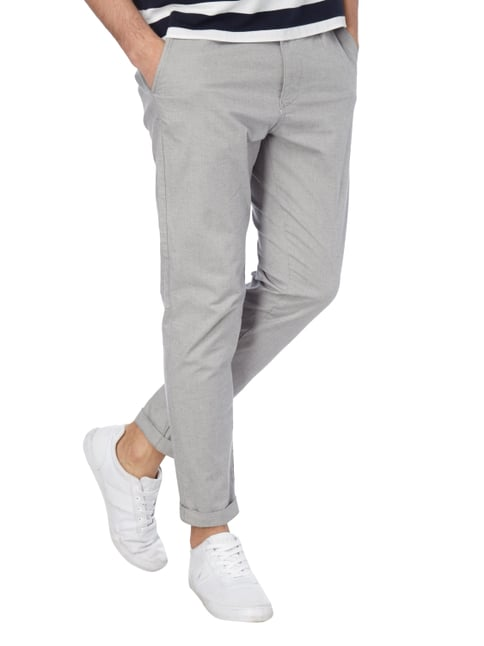 Selected Homme Tapered Fit Chino mit Webmuster Kitt - 1