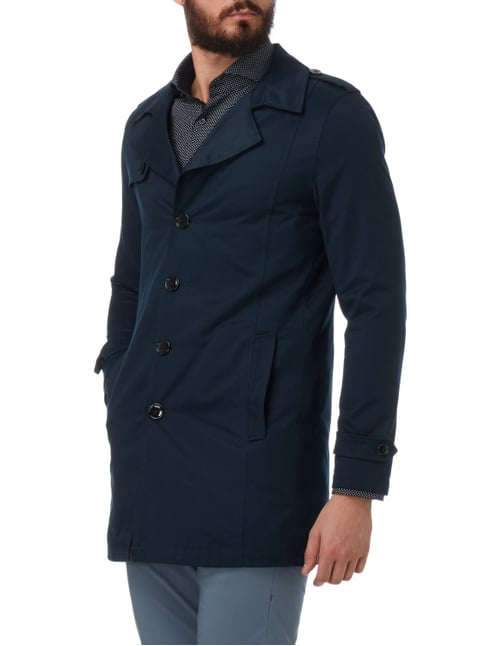 Selected Homme Trenchcoat mit Reverskragen Marineblau - 1