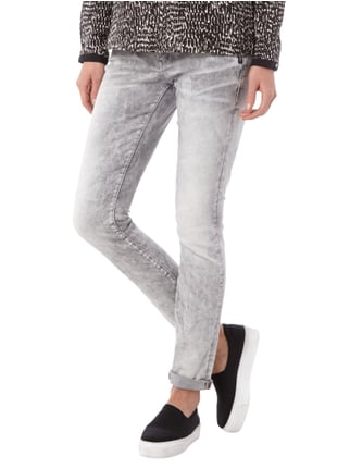 Silver Jeans Acid Washed Skinny Fit Jeans Mittelgrau - 1