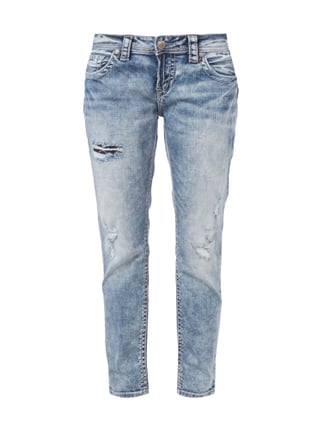 Boyfriend Jeans im Destroyed Look Blau / Türkis - 1