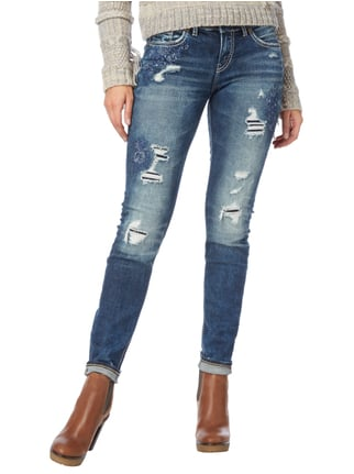 Silver Jeans Destroyed Look Skinny Fit 5-Pocket-Jeans Jeans - 1