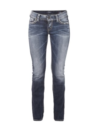 Light Used Look Straight Fit 5-Pocket-Jeans Blau / Türkis - 1