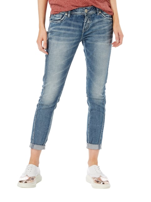 Silver Jeans Stone Washed Boyfriend Fit 5-Pocket-Jeans Jeans - 1