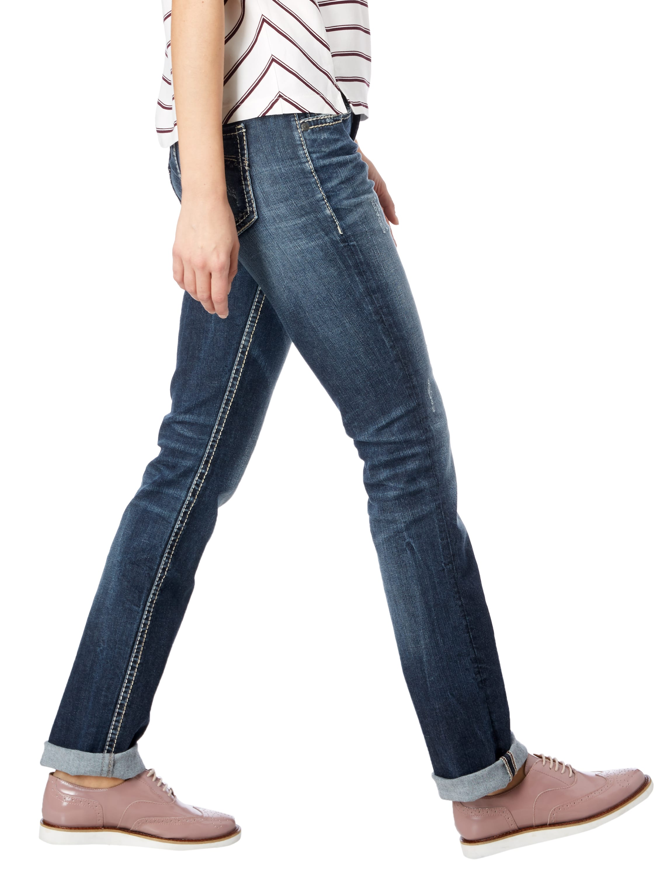 straight fit jeans im used look fashion id online shop. Black Bedroom Furniture Sets. Home Design Ideas
