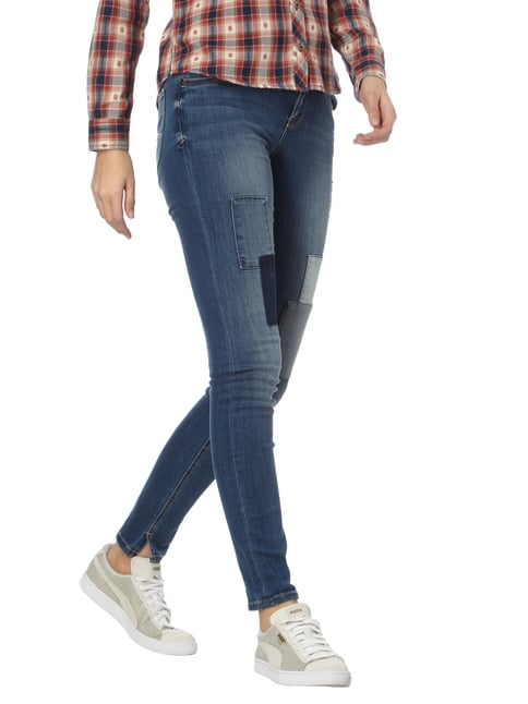 Soccx Stone Washed Skinny Fit Jeans mit Patches Jeans - 1