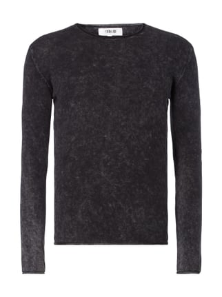 Pullover im Washed Out Look Grau / Schwarz - 1