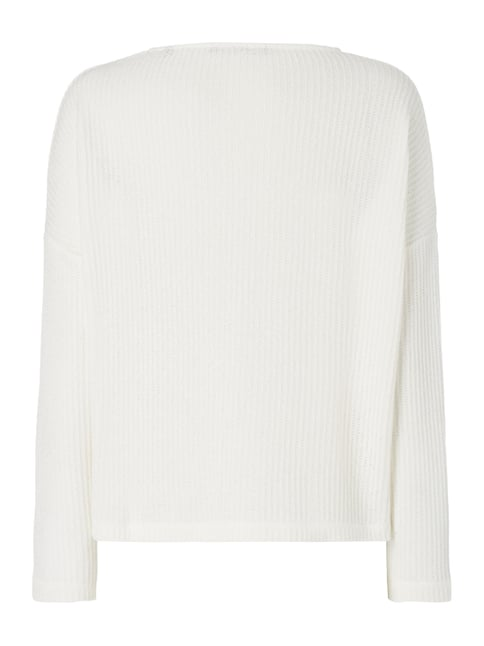 Someday Pullover im Rippenstrick Offwhite - 1