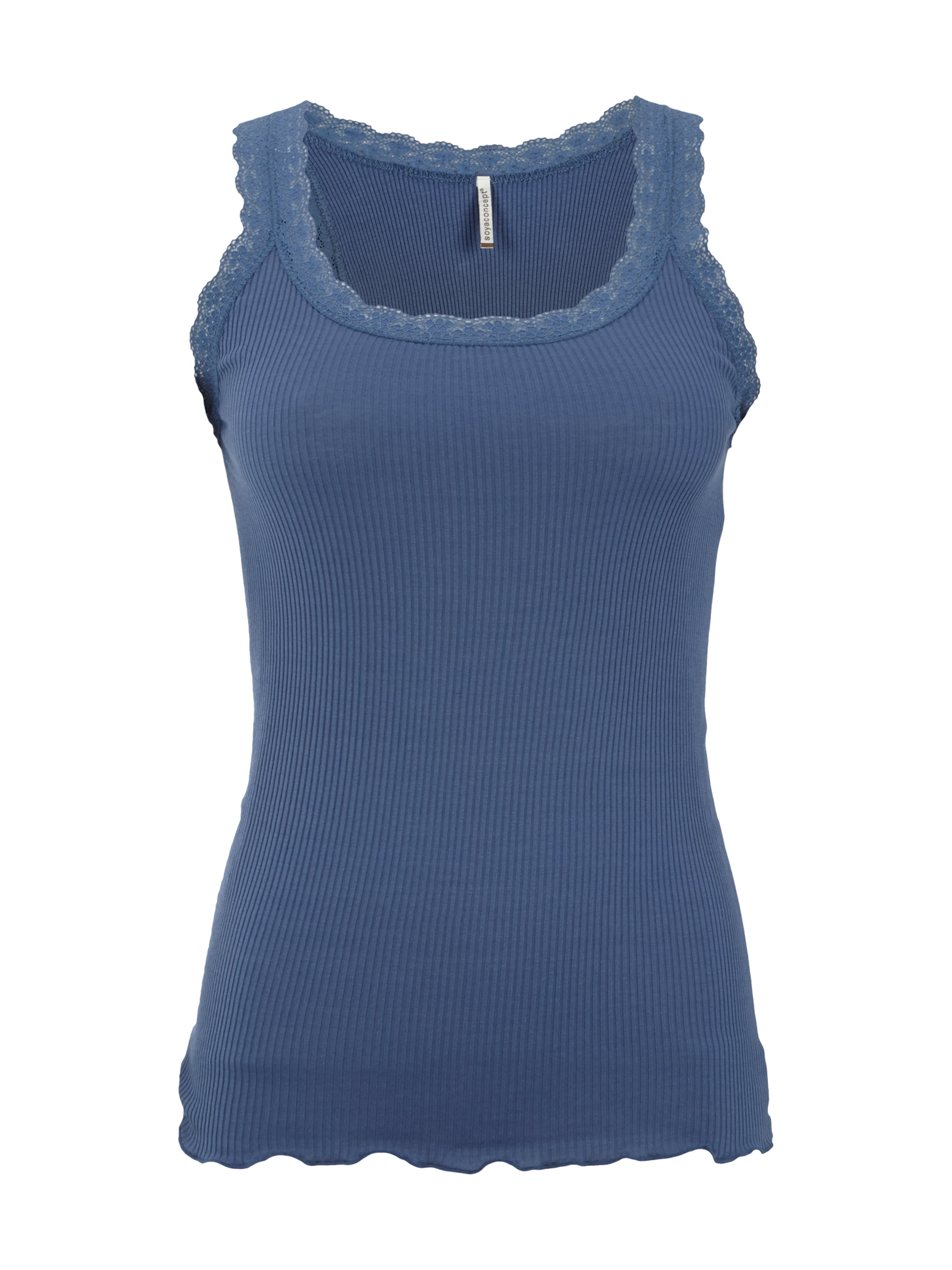 soyaconcept tanktop mit spitze in blau t rkis online. Black Bedroom Furniture Sets. Home Design Ideas
