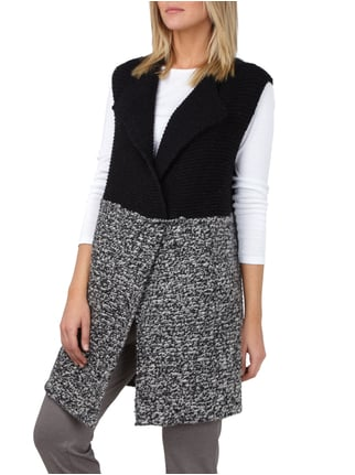 Stefanel Longweste in Two-Tone-Machart Mittelgrau - 1