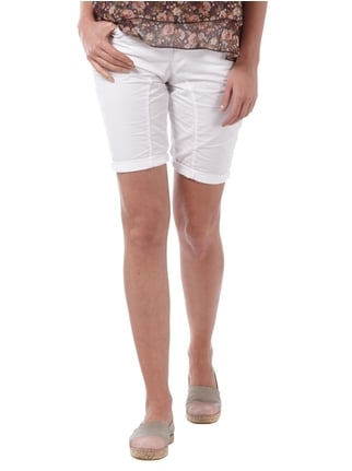 Street One Casual Fit Shorts aus Baumwolle Weiß - 1