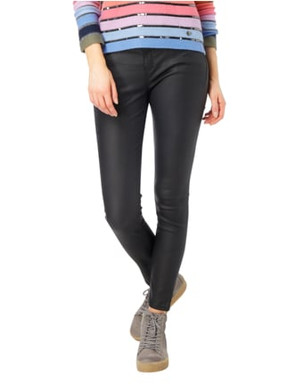 Street One Coated Slim Fit Jeans Schwarz - 1
