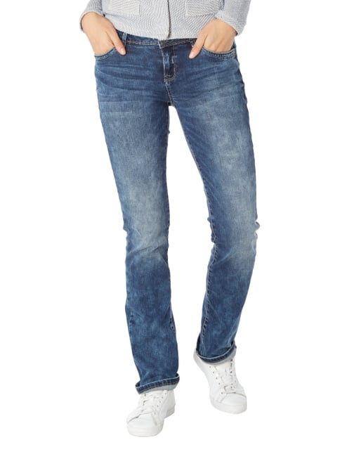 Street One Double Stone Washed Casual Fit Jeans Dunkelblau - 1